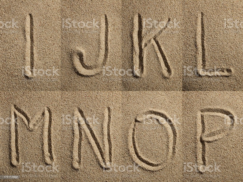 Sand Alphabet XXXL stock photo