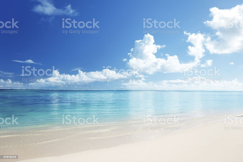 sand and Caribbean sea royalty-free stock photo