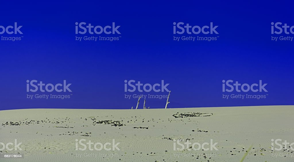 Sand and dunes in  sud Sardinia sea with sky blue 免版稅 stock photo