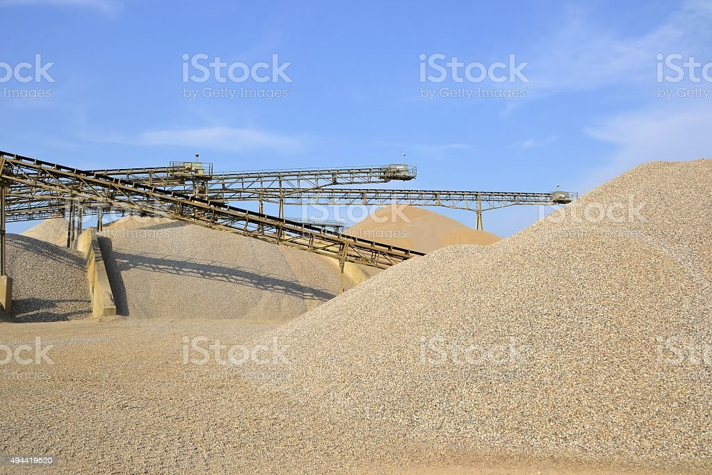 sand and gravel stock photo