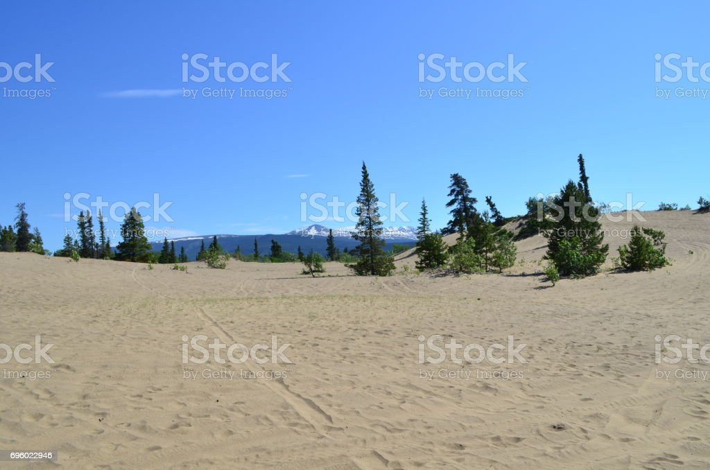 Sand and mountains stock photo