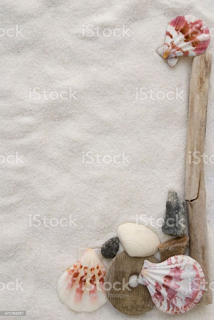 sand and mussel background stock photo