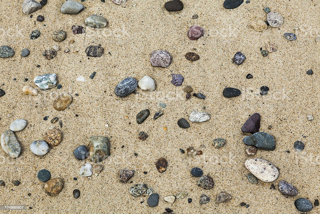Sand and Pebble Beach Background stock photo
