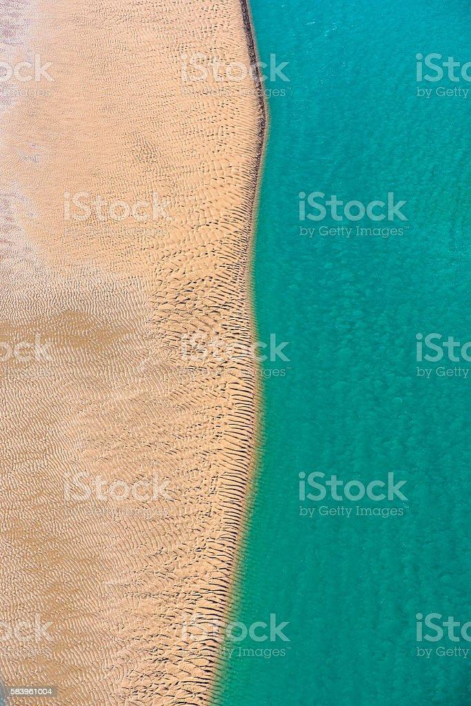 Sand and Sea stock photo