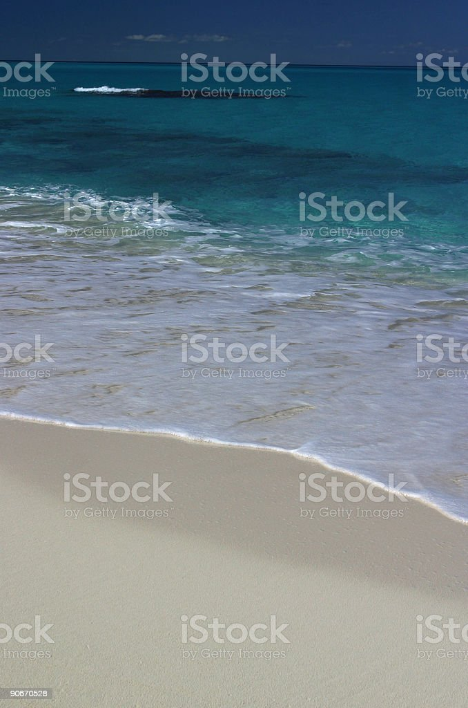 Sand and Sea stock photo