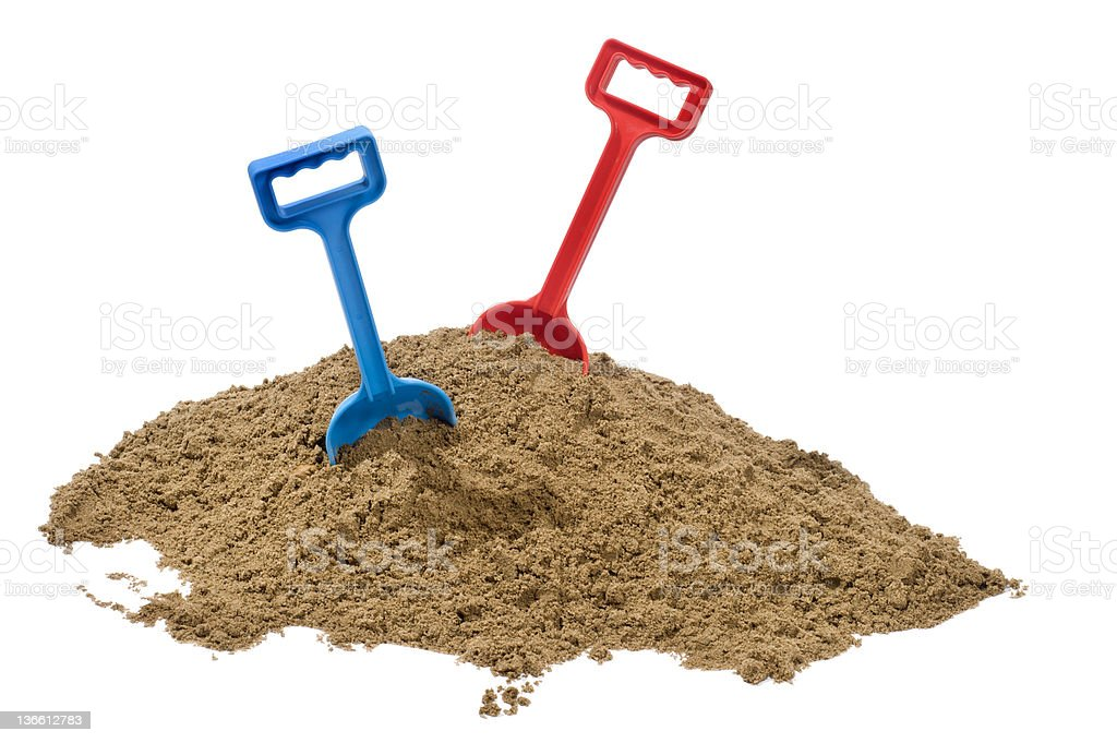 Sand and Spades stock photo