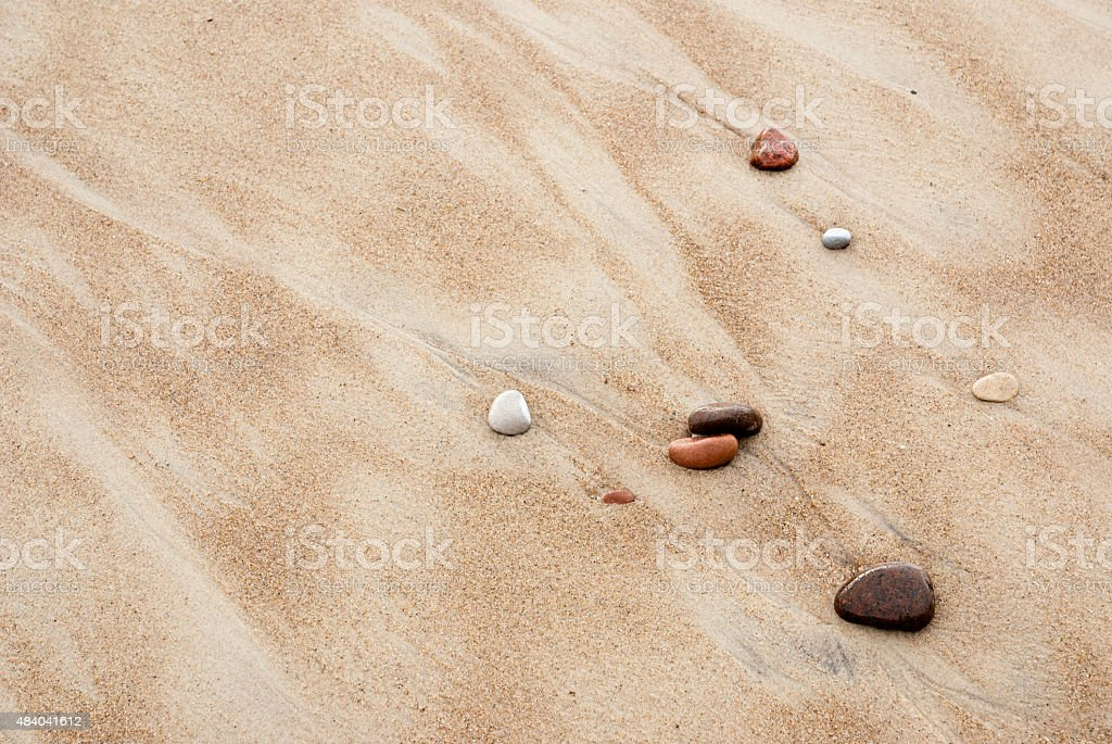 Sand and stone pebbles. stock photo