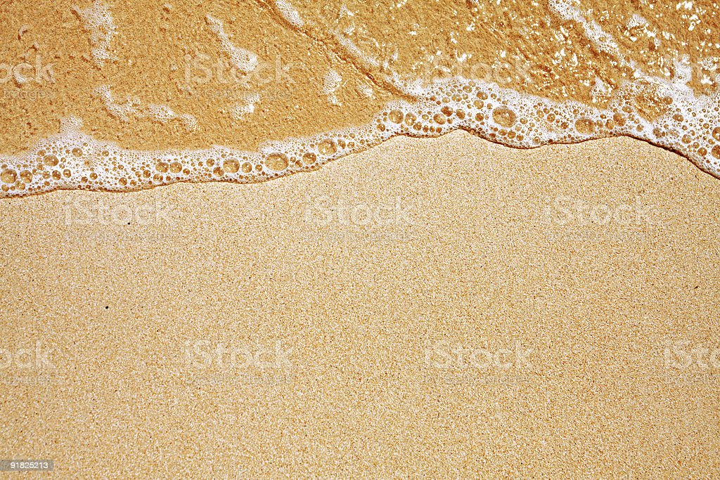 sand and wave background royalty-free stock photo