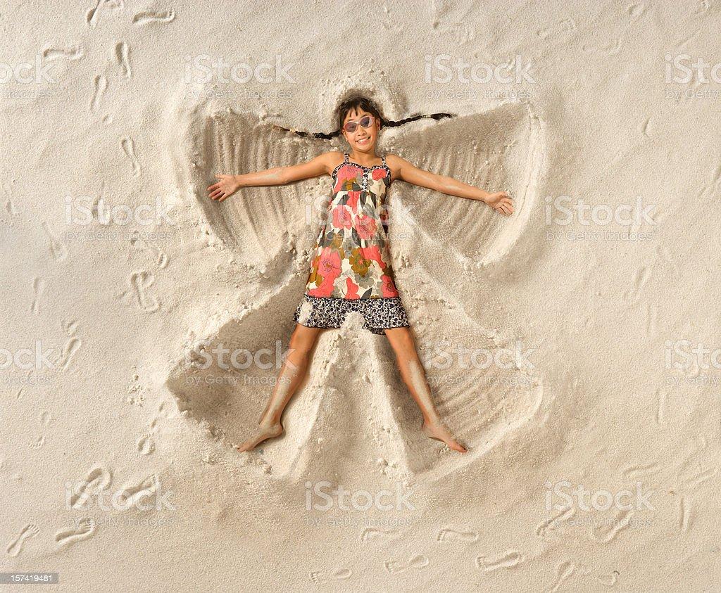 Sand Angel stock photo