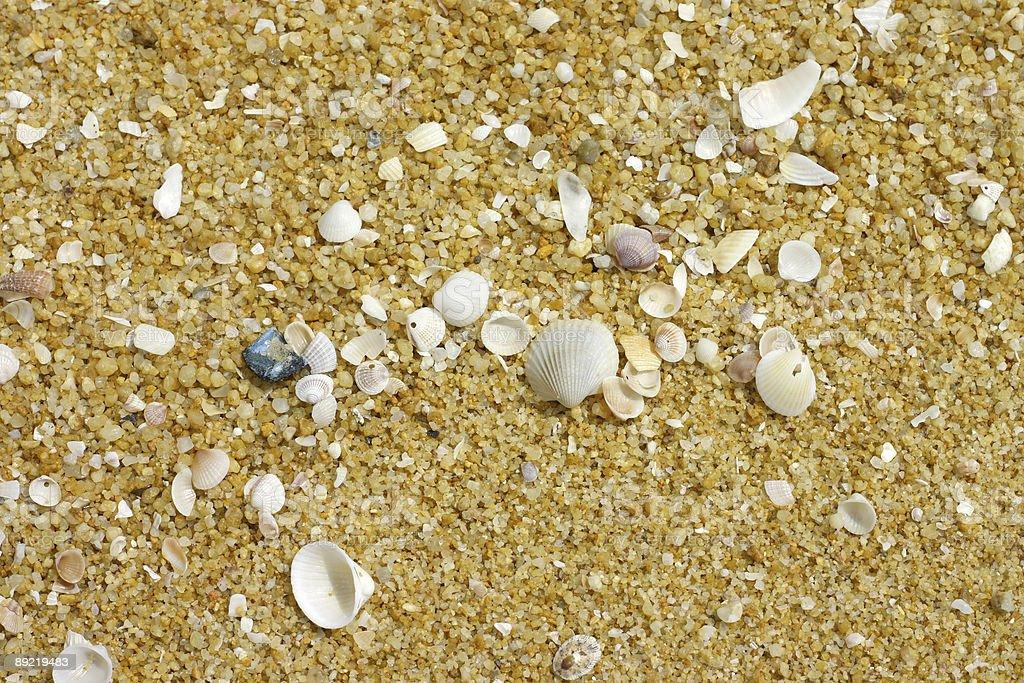 Sand at beach stock photo
