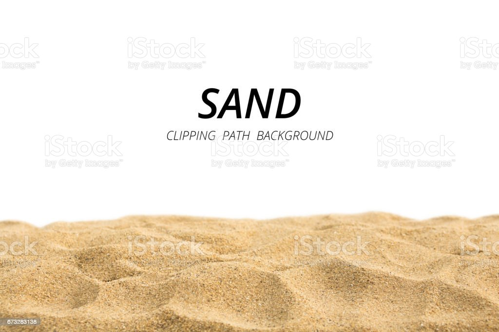 Sand background witn clipping path.