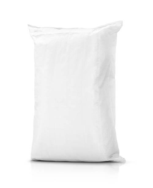 zandzak of witte plastic canvas zak voor rijst of landbouw product - zak tas stockfoto's en -beelden