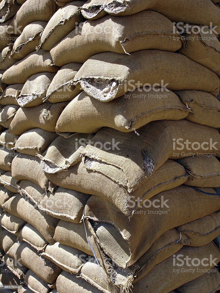 sand bags royalty-free stock photo