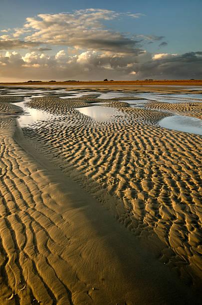 Sand Bar Sunset stock photo
