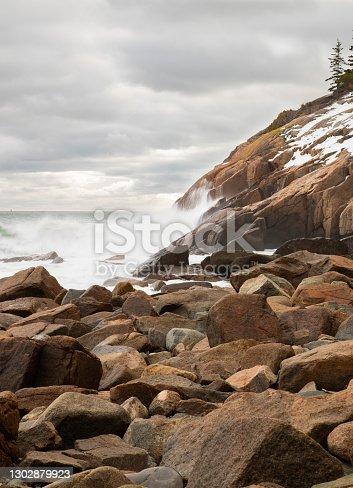 istock Sand Beach Acadia in Winter 1302879923