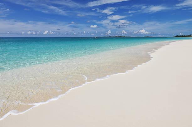 sand beach background - nassau new providence stockfoto's en -beelden