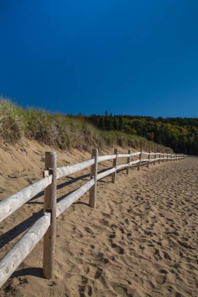Sand Beach in Acadia National Park stock photo