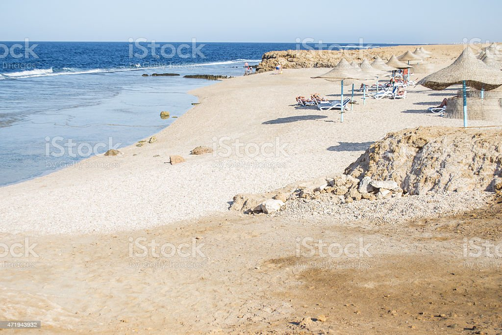 sand beach  in Marsa Alam, Egypt stock photo