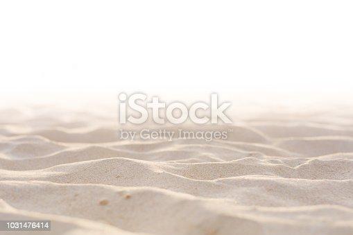 istock Sand beach texture white background 1031476414