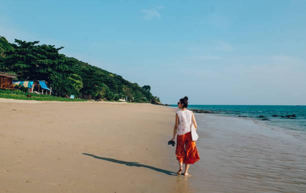Sand beaches of Koh Lanta, Thailand stock photo