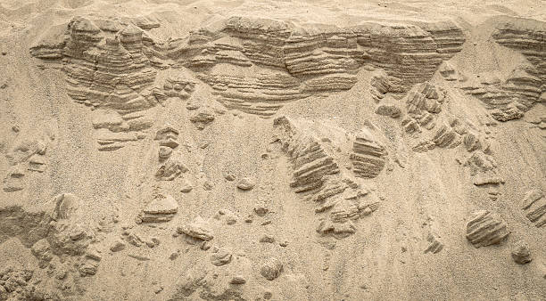 sand bech texture background stock photo