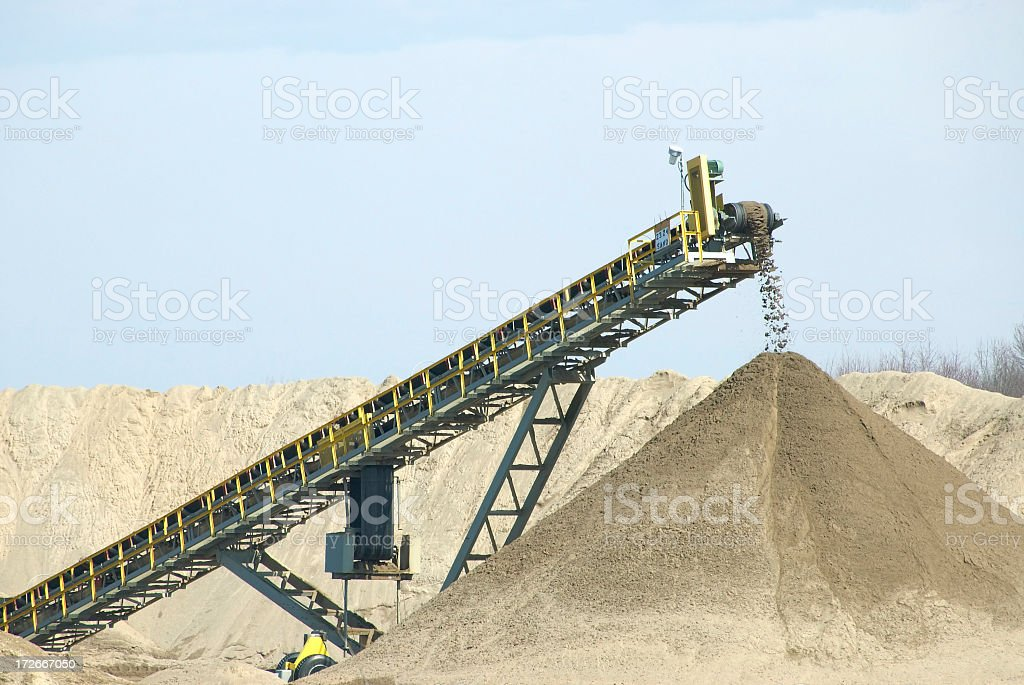 Sand Belt at Quarry stock photo