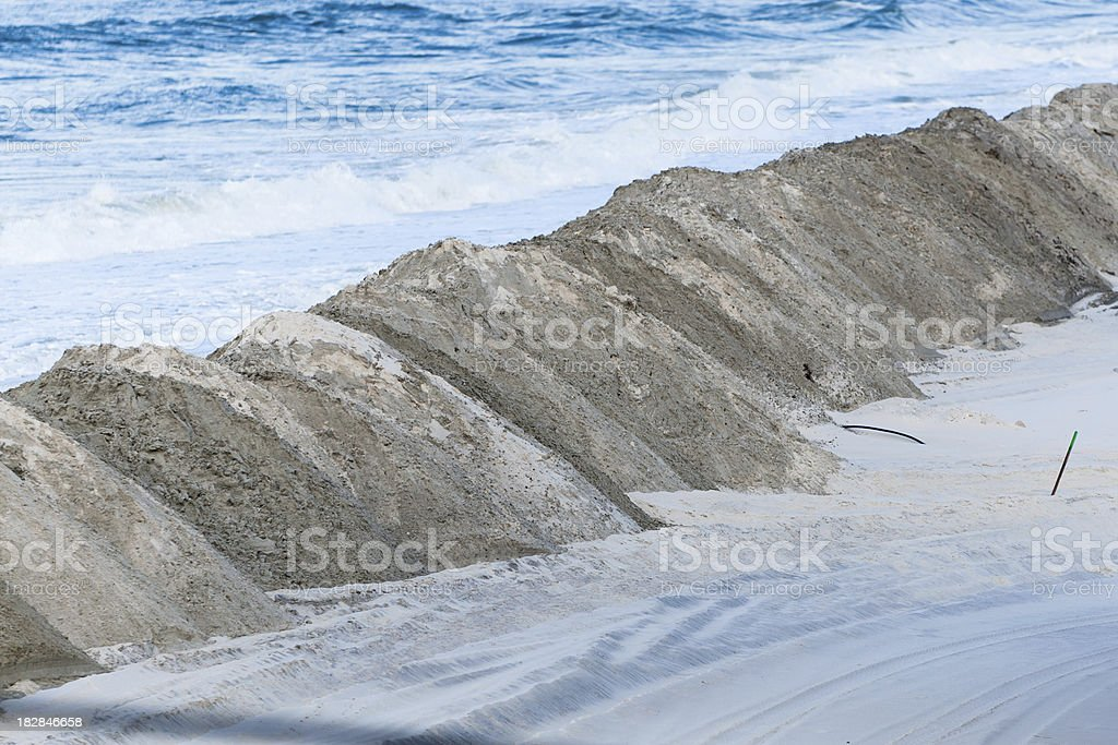 Sand Berm royalty-free stock photo