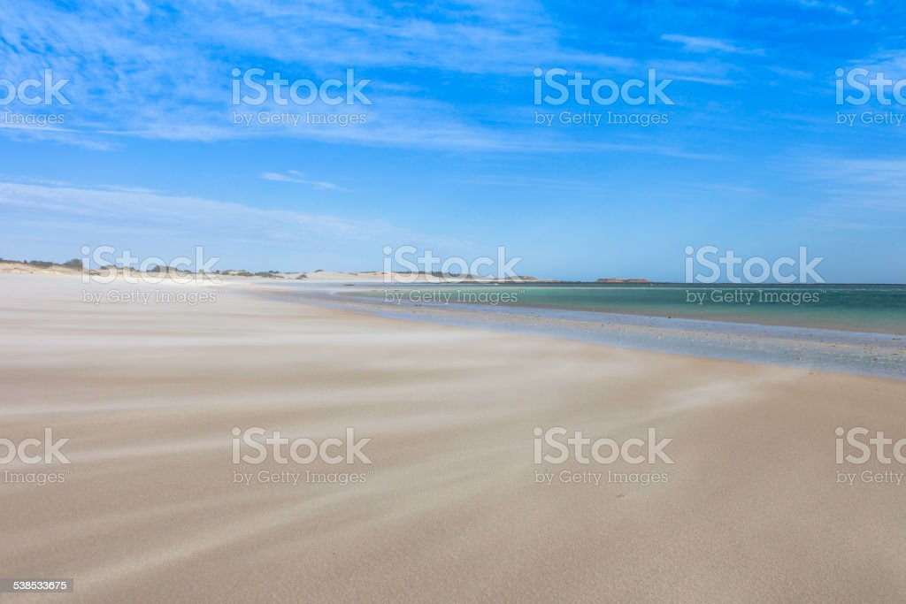 Sand Blown Beach stock photo