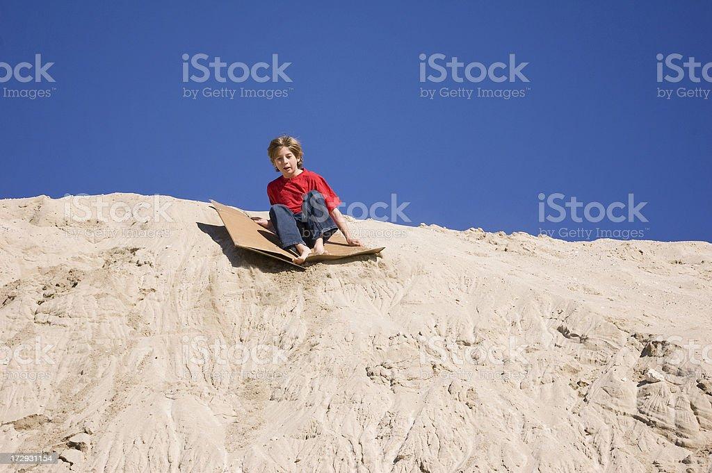 Sand Boarding stock photo