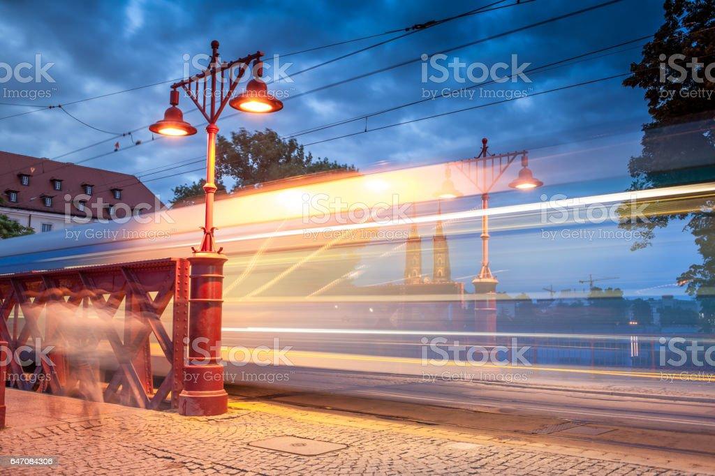 Sand Bridge, Wroclaw, Poland stock photo