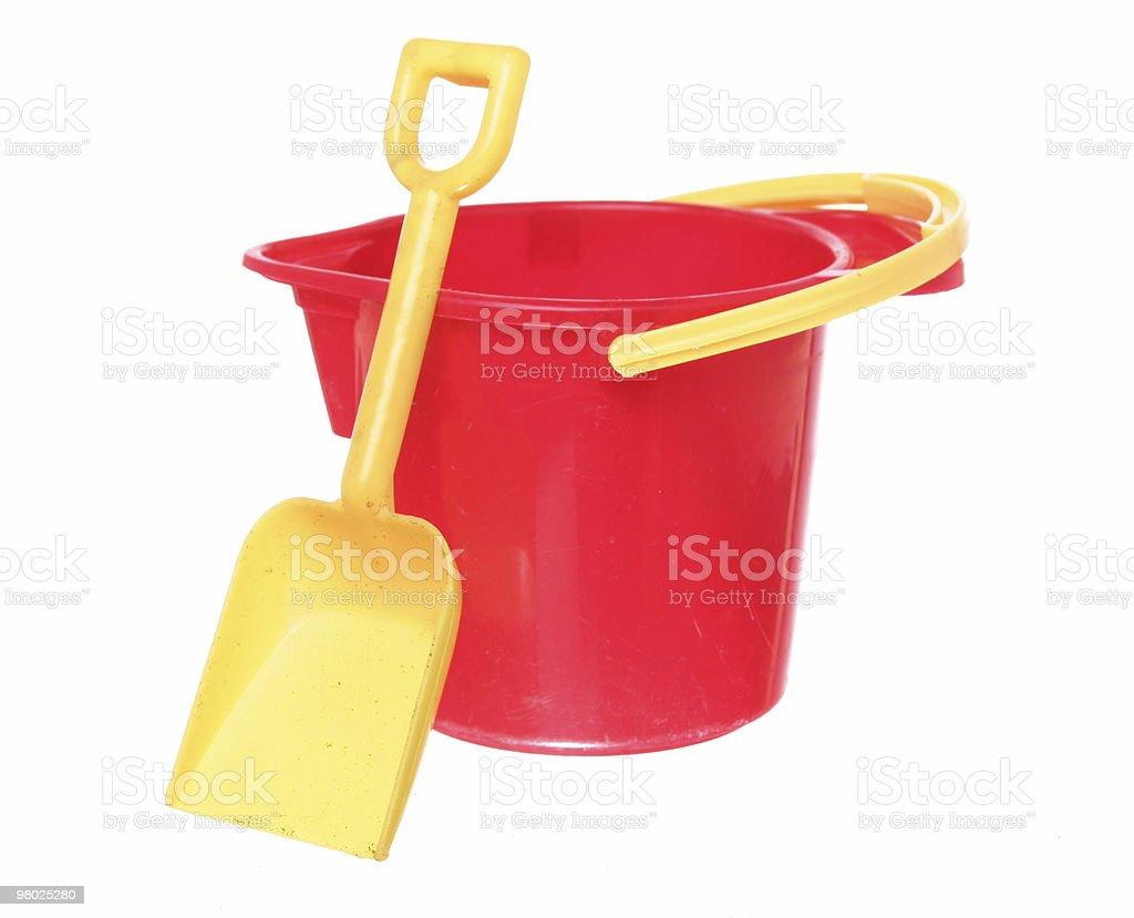 Sand Bucket and Shovel royalty-free stock photo