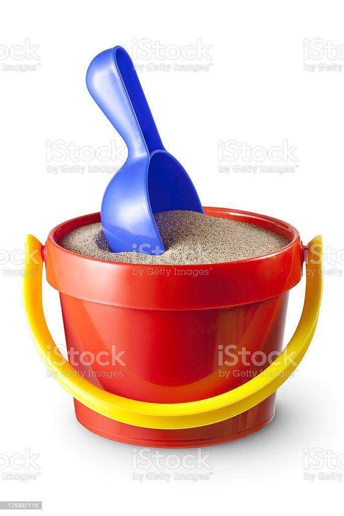 Sand bucket stock photo