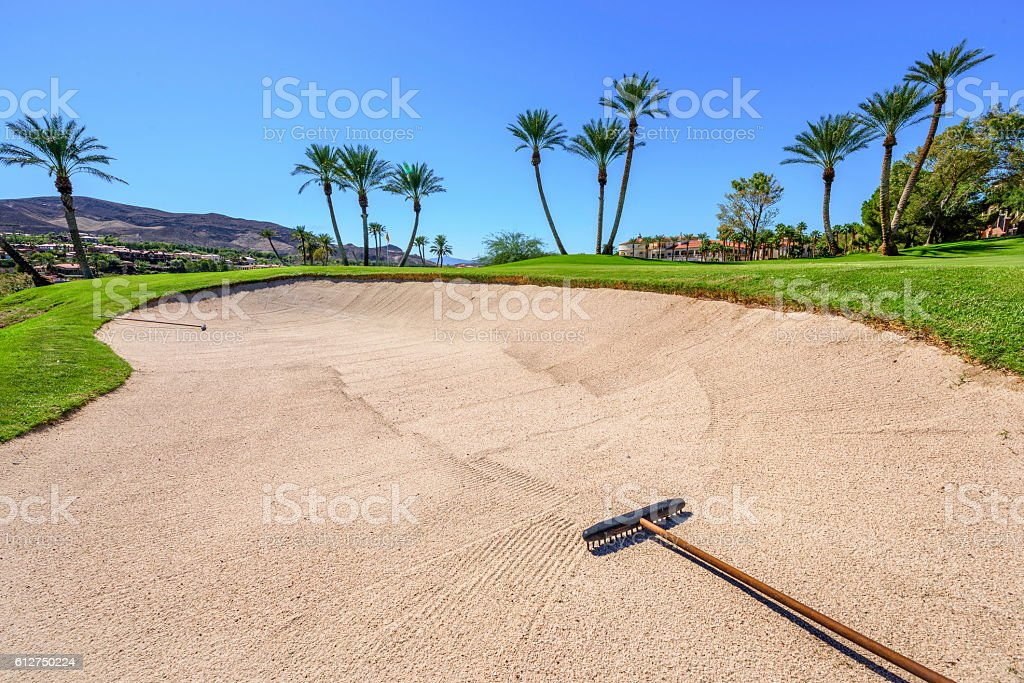 Sand Bunker stock photo