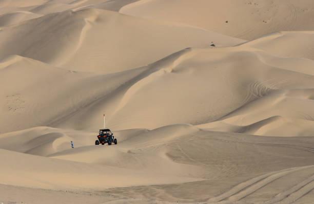 Sand Car and Desert stock photo