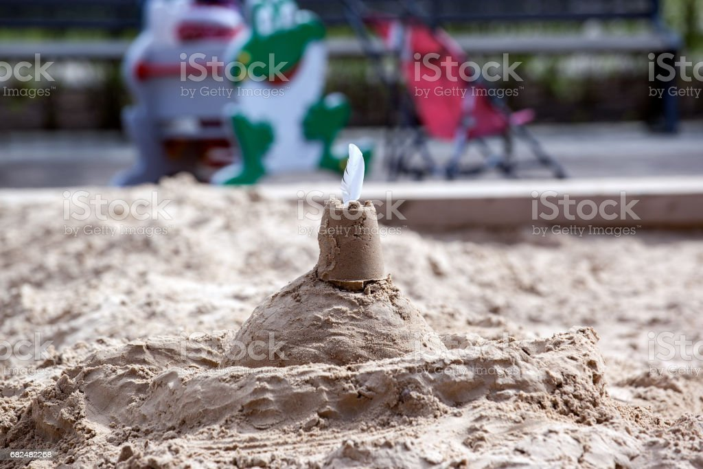 sand castle, children's playground in the park royalty-free stock photo