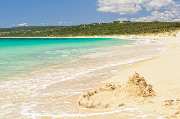 Sand castle in Hamelin Bay - Margaret River stock photo