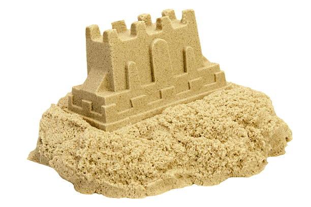 Sand Castle Isolated On White Background stock photo