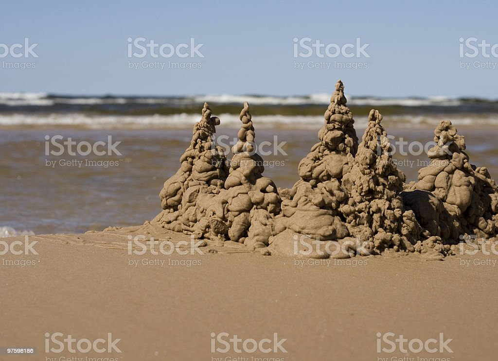Sand castle royaltyfri bildbanksbilder