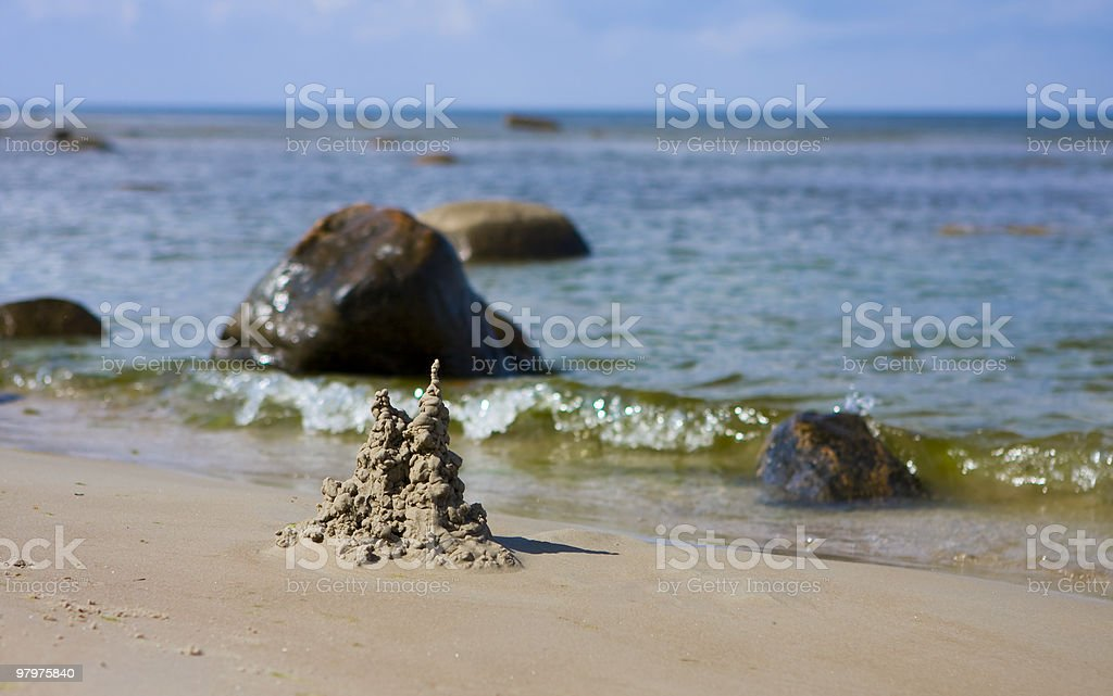 sand castle royalty-free stock photo