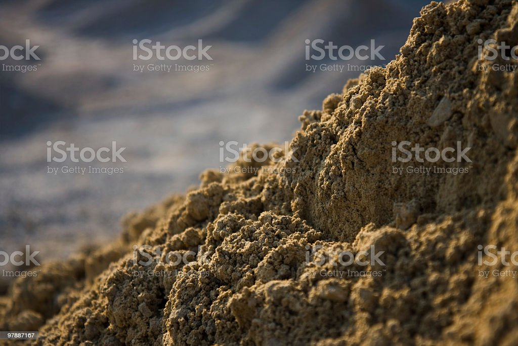 Sand close-up royalty-free stock photo
