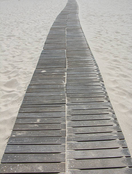 sand crosswalk - carpet runner stock photos and pictures
