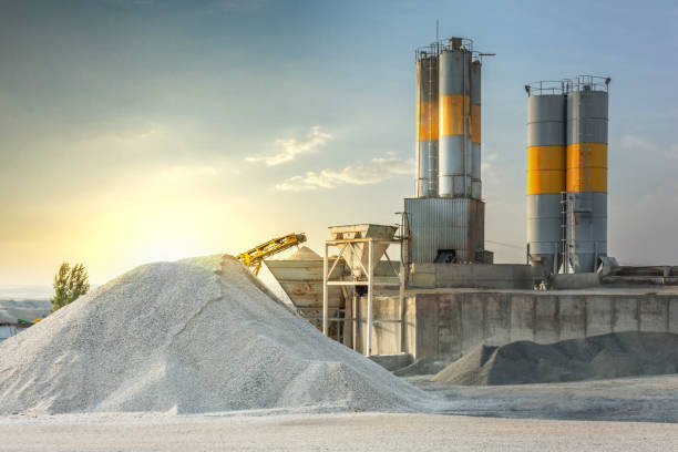 Sand destined to the manufacture of cement in a quarry Sustainable resources to be able to extract mineral mining natural resources stock pictures, royalty-free photos & images