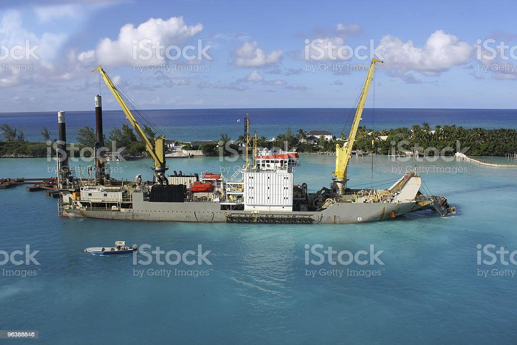 Sand digger in Nassau - Royalty-free Bahamas Stock Photo