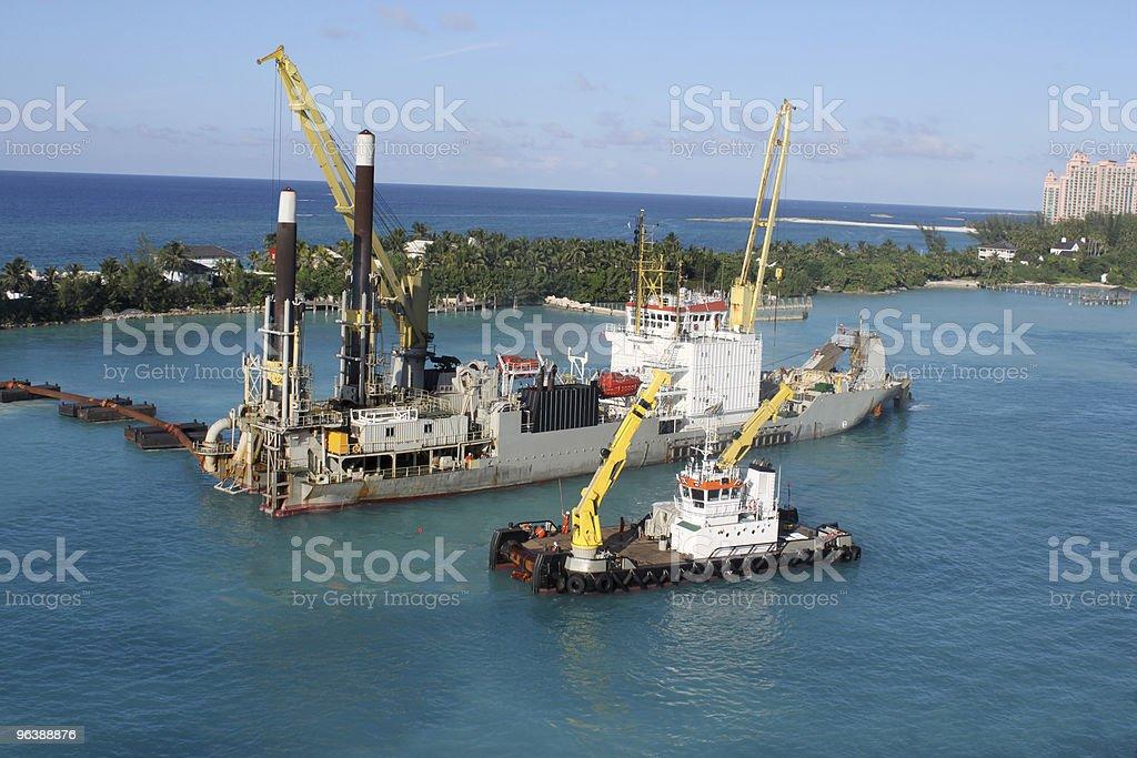 Sand digger in Nassau - Royalty-free Bahamas Stock Photo