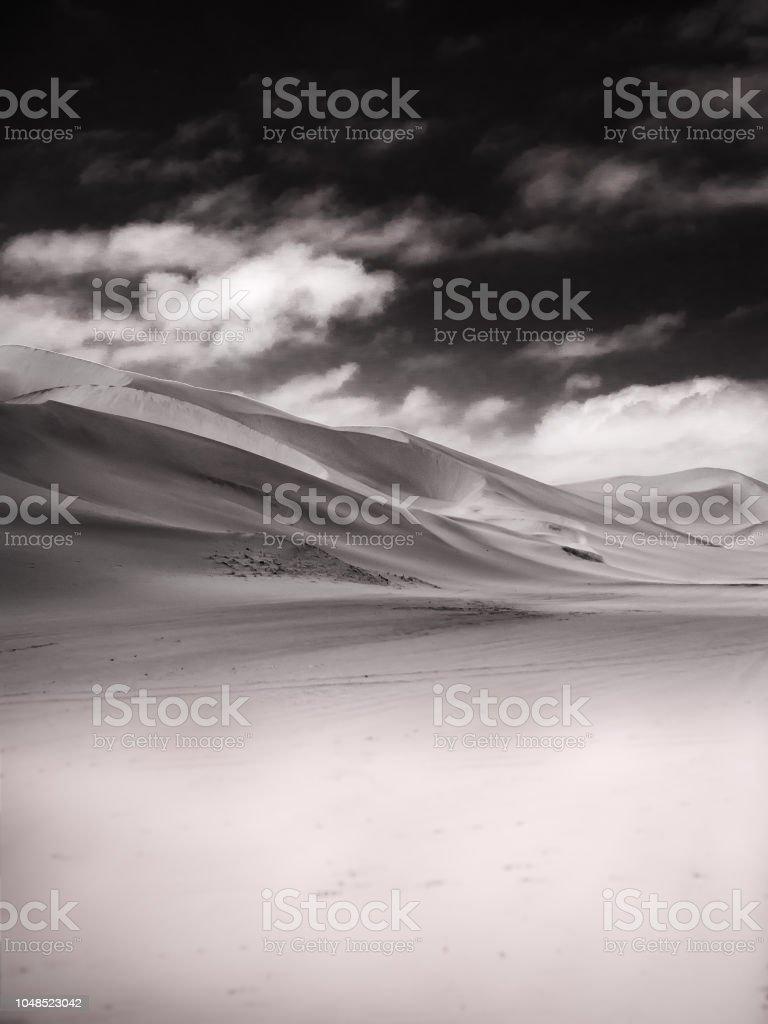 Sand Dune and Sky stock photo