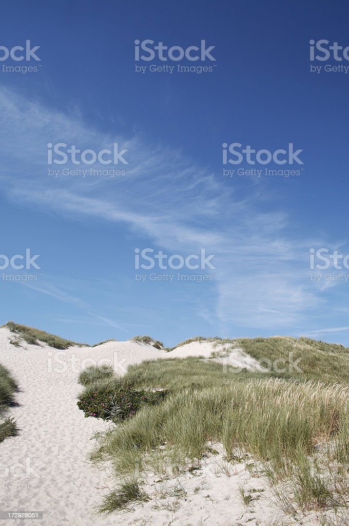 Sand dune and sky royalty-free stock photo
