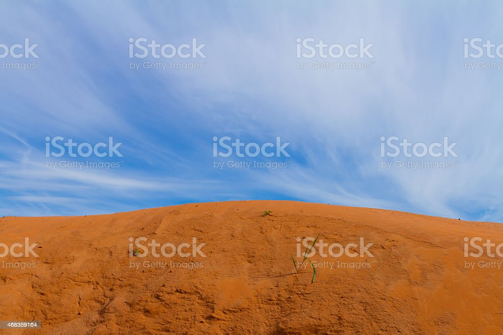 Sand dune and the blue sky royalty-free stock photo