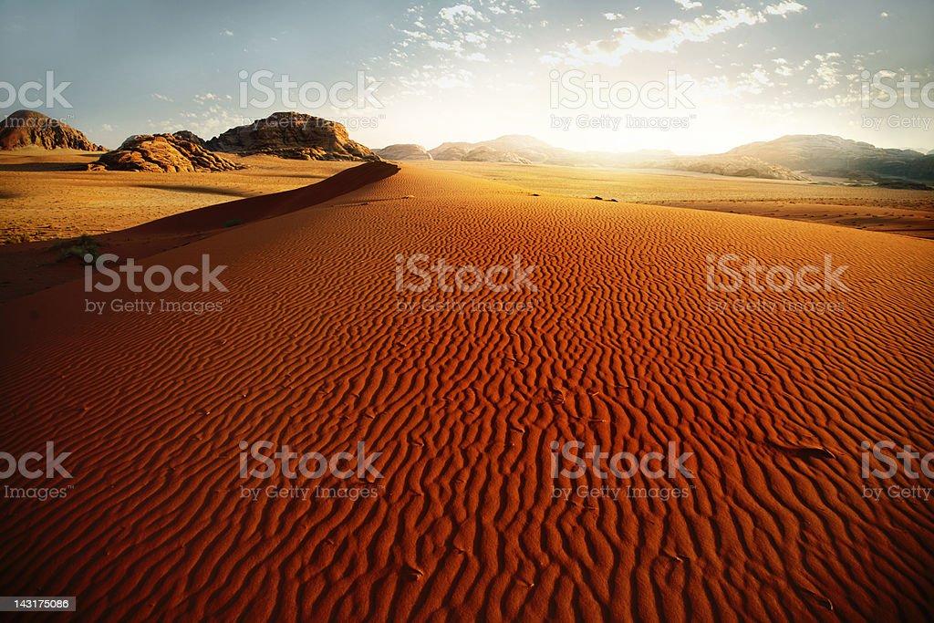 Sand dune at sunrise royalty-free stock photo