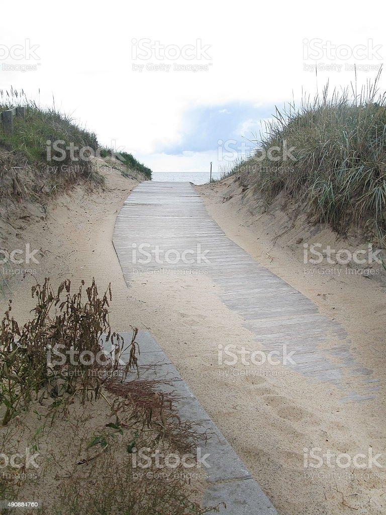 Sand dune boardwalk - Royaltyfri 2015 Bildbanksbilder
