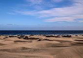 Sand Dune Desert in Maspalomas Gran Canaria Island Spain